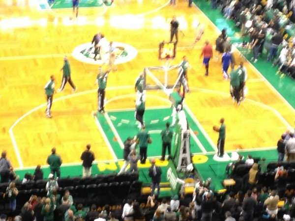 TD Garden, section: Loge 18, row: 19, seat: 4