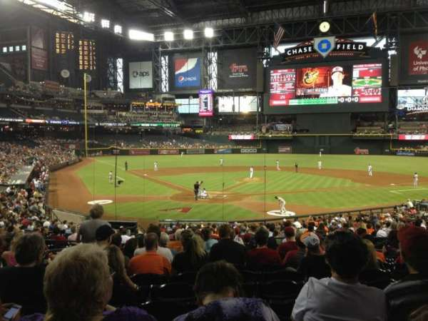 Chase Field, section: 120, row: 32, seat: 11