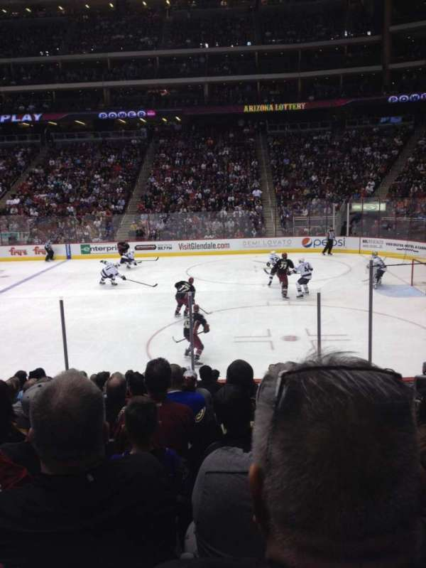Gila River Arena, section: 121, row: L, seat: 4