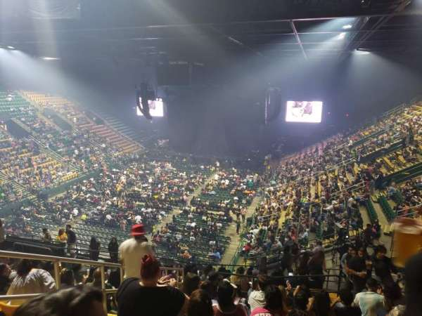 EagleBank Arena, section: 107, row: V, seat: 8