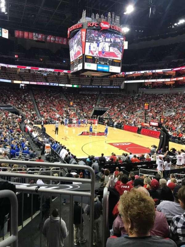 KFC Yum! Center, section: 112, row: R, seat: 15