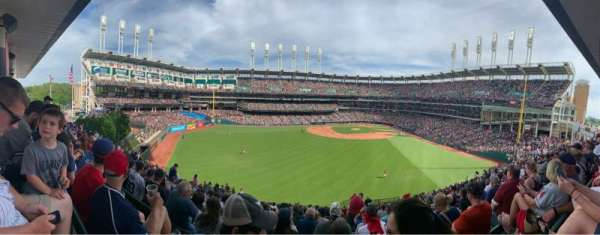 Progressive Field, section: 183, row: Y, seat: 11