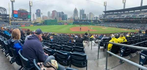 PNC Park, section: 125, row: H, seat: 1