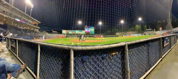 PNC Field, section: Infield Box 20, row: 1, seat: 6