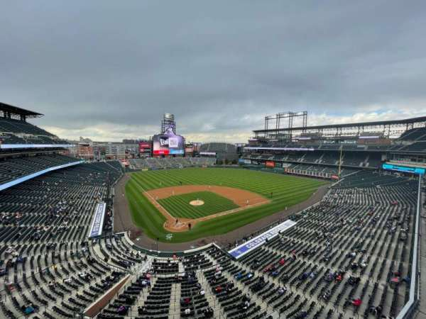 Coors Field, section: L328, row: 1, seat: 14
