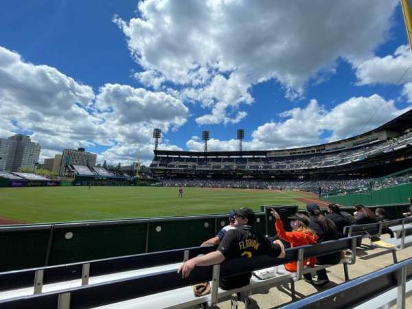 PNC Park, section: 134, row: D, seat: 8