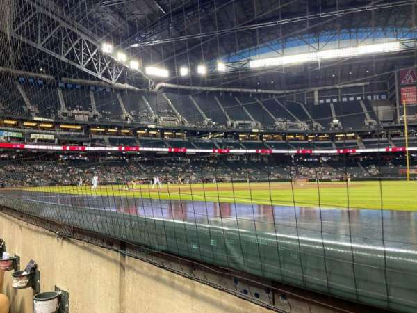 Chase Field, section: 112, row: 1, seat: 5