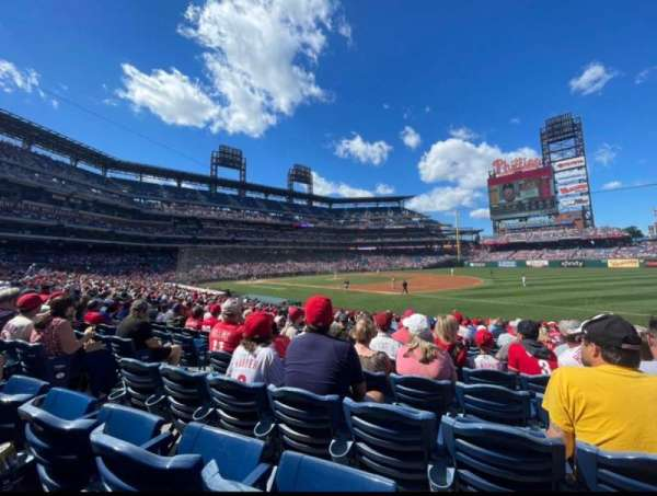 Citizens Bank Park, section: 112, row: 22, seat: 13