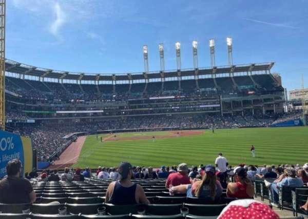 Progressive Field, section: 113, row: Z, seat: 8