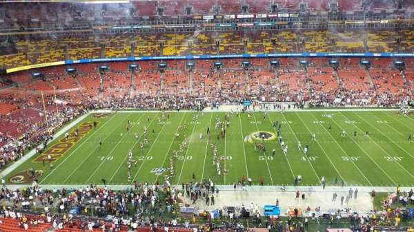 FedEx Field, section: 401, row: 1, seat: 15