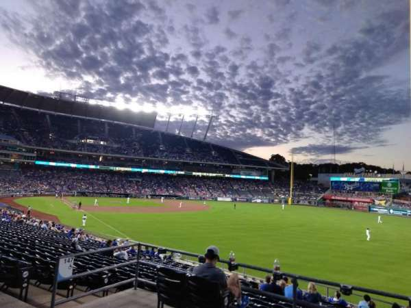 Kauffman Stadium, section: 247, row: AA, seat: 7