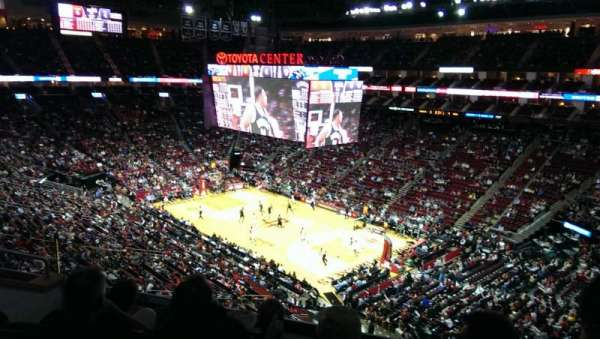 Toyota Center, section: 301, row: 3, seat: 2