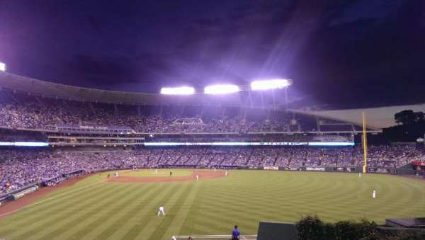 Kauffman Stadium, section: 252, row: EE, seat: 9