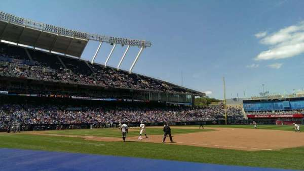 Kauffman Stadium, section: 140, row: 2, seat: 8