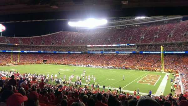 Arrowhead Stadium, section: 133, row: 37, seat: 9