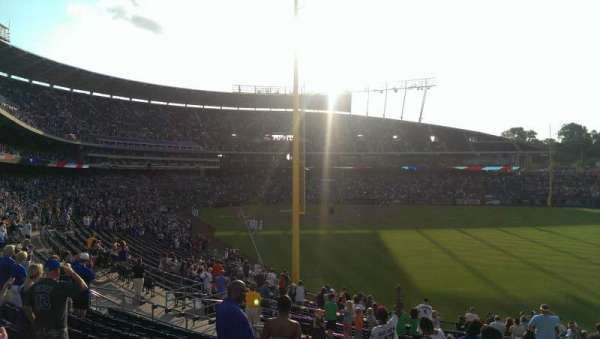 Kauffman Stadium, section: 249, row: LL, seat: 11