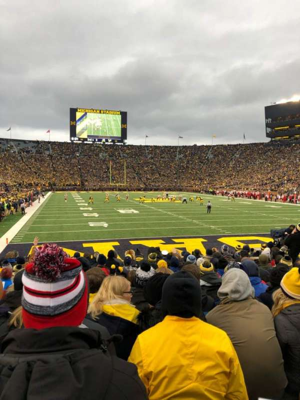 Michigan Stadium, section: 13, row: 11, seat: 8