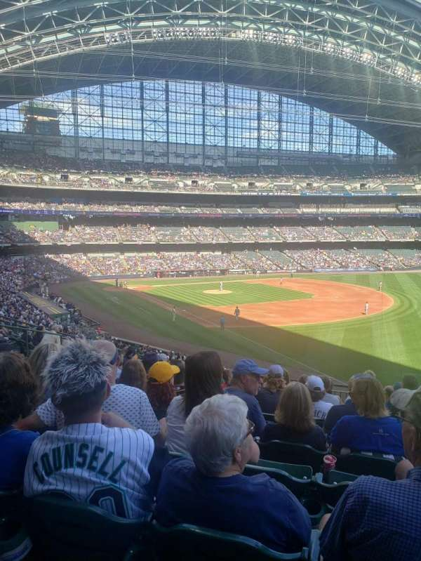 American Family Field, section: 208, row: 10, seat: 20