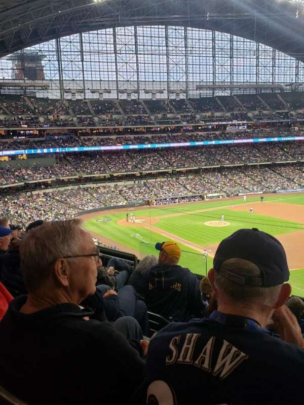 American Family Field, section: 312, row: 6, seat: 7