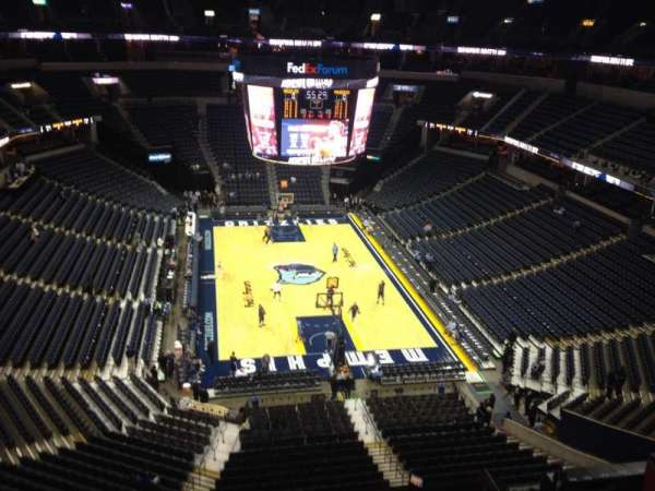 FedEx Forum, section: 216, row: C, seat: 12