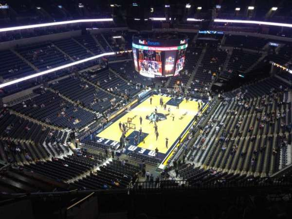 FedEx Forum, section: 219, row: M, seat: 20