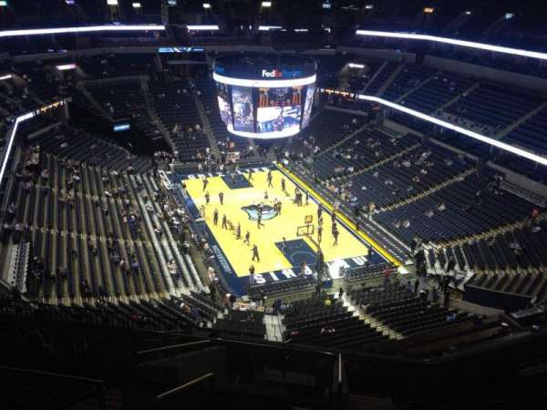 FedEx Forum, section: 215, row: M, seat: 18