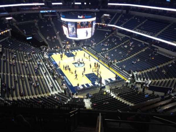 FedEx Forum, section: 214, row: K, seat: 1