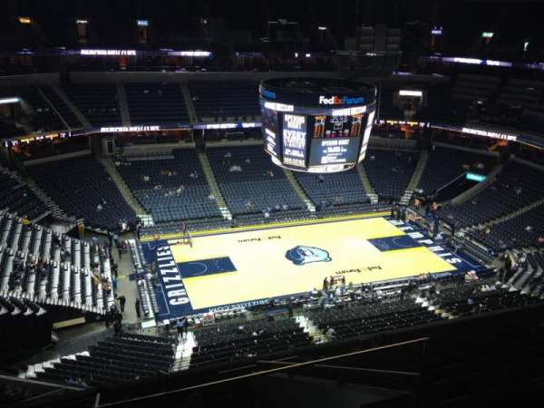 FedEx Forum, section: 206, row: K, seat: 1