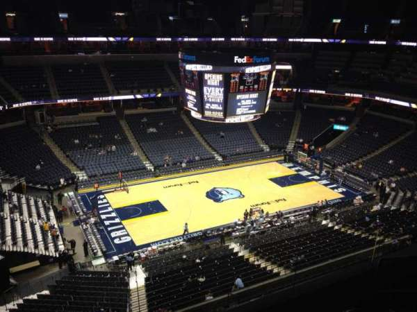 FedEx Forum, section: 206, row: D, seat: 3