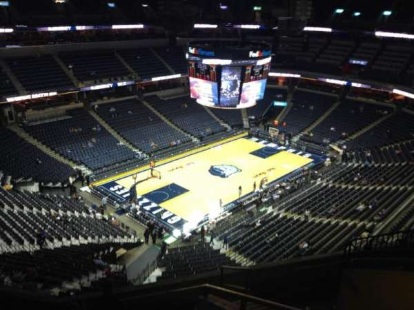 FedEx Forum, section: 204, row: H, seat: 1
