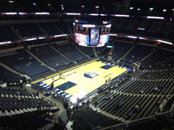 FedEx Forum, section: 204, row: D, seat: 7