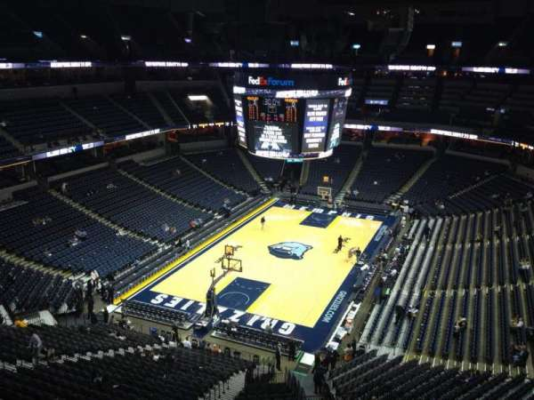 FedEx Forum, section: 203, row: B, seat: 22