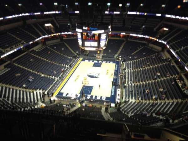 FedEx Forum, section: 201, row: N, seat: 2