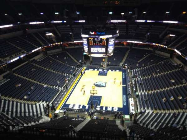 FedEx Forum, section: 201, row: H, seat: 6