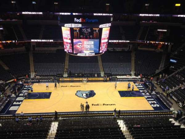 FedEx Forum, section: 224, row: A, seat: 2