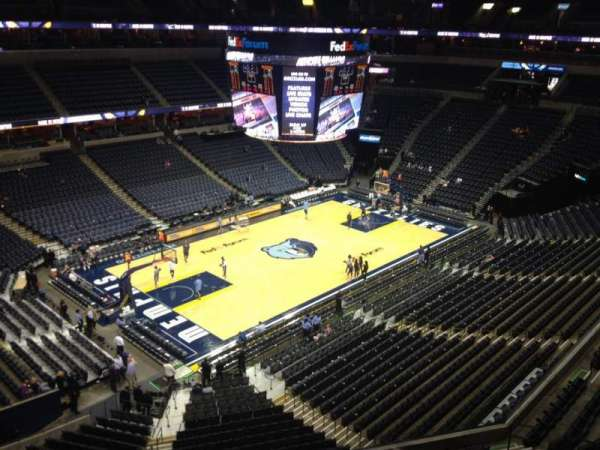 FedEx Forum, section: 221, row: A, seat: 18