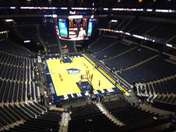 FedEx Forum, section: 215, row: A, seat: 1