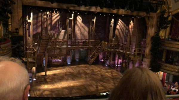 Richard Rodgers Theatre, section: Front Mezzanine, row: B, seat: 13
