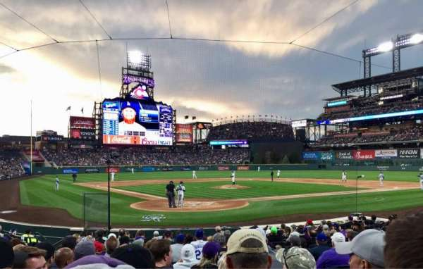 Coors Field, section: 129, row: 13, seat: 3