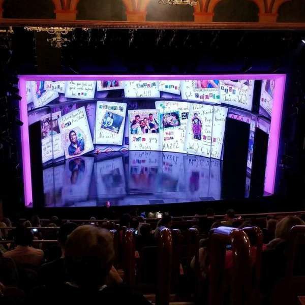 August Wilson Theatre, section: Mezzanine L, row: Q, seat: 3