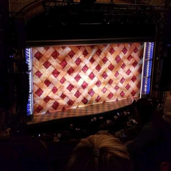 Brooks Atkinson Theatre, section: Rear Mezzanine L, row: H, seat: 7