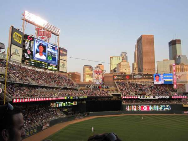 Target Field, section: S, row: 7, seat: 14