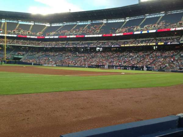 Turner Field, section: 120, row: 1, seat: 1