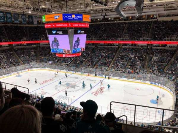 SAP Center, section: 227, row: 8, seat: 7