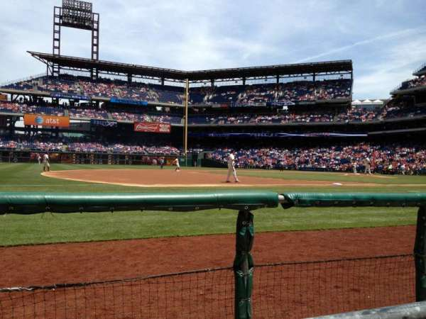 Citizens Bank Park, section: 133, row: 1, seat: 4