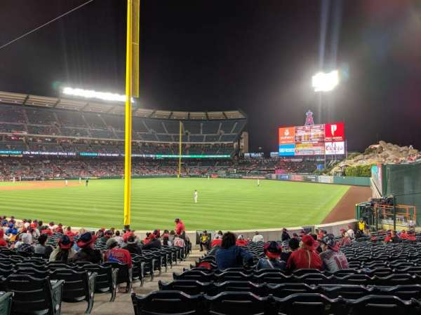 Angel Stadium, section: F134, row: V, seat: 2