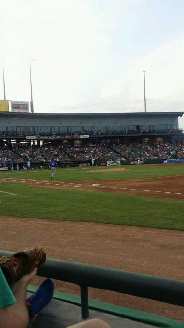 Dell Diamond, section: 125, row: 2, seat: 6