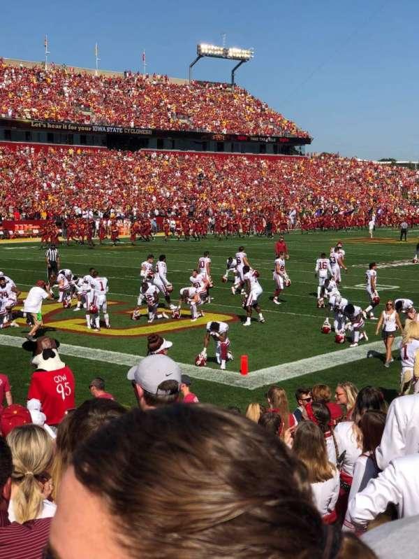 Jack Trice Stadium, section: 25, row: 9, seat: 4