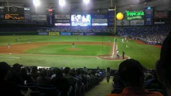 Tropicana Field, section: 107, row: JJ, seat: 1