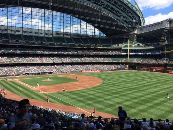 Miller Park, section: 207, row: 13, seat: 4